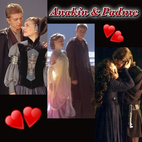 Anakin and Padme wallpaper possibly containing a carriageway and a business suit entitled Anakin & Padmé LOVE