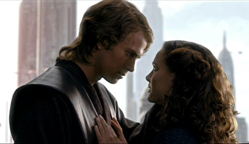 Anakin Skywalker and Padme Amidala wallpaper possibly containing a business suit called Anakin and Padmé ep. III