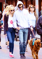 Andrew and Emma (and Ren!) at the 2013 EIF Revlon Run/Walk for Women NYC - emma-stone photo