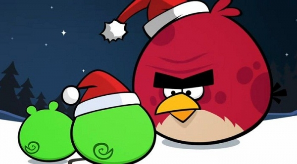 angry birds images angry birds christmas wallpaper and background photos - Christmas Angry Birds