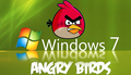 Angry Birds Desktop achtergrond for Windows 7