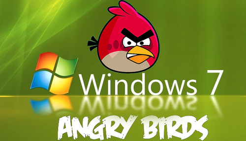 Angry Birds Desktop Hintergrund for Windows 7