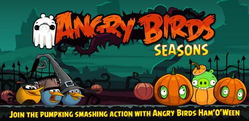 angry birds wallpaper containing animê entitled Angry Birds Seasons Dia das bruxas