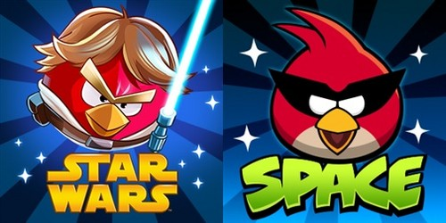 Angry Birds wallpaper probably with a slot, a slot machine, and a stained glass window entitled Angry Birds Space & Star Wars