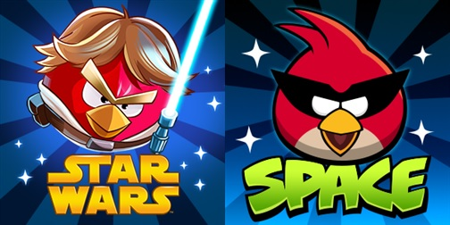 Angry Birds Space & nyota Wars