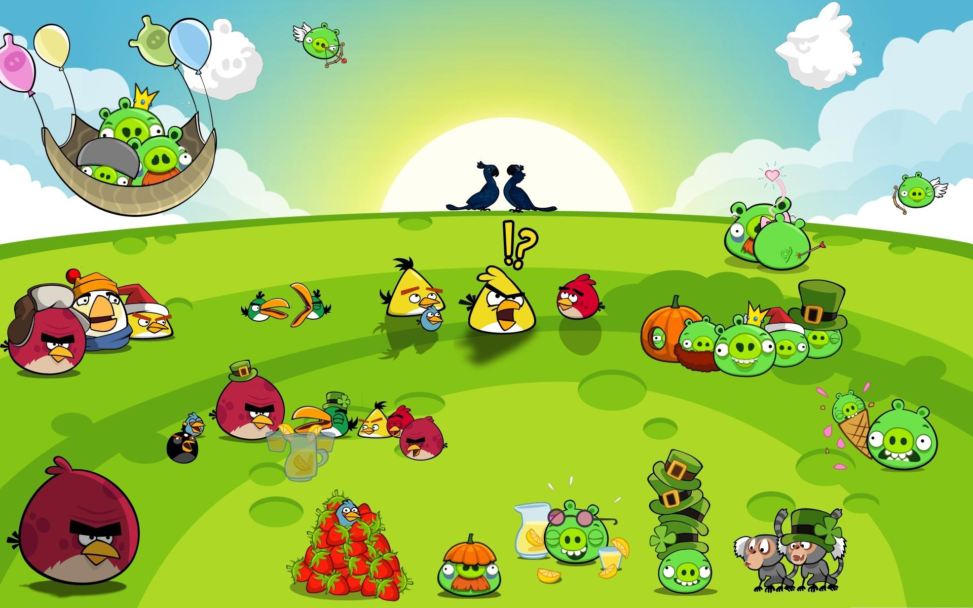 Angry Birds HD Background Image for Tablet Cartoons