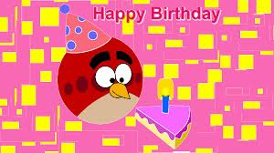 Angru Birds wallpaper possibly with Anime entitled Angry Birds birthday card :)