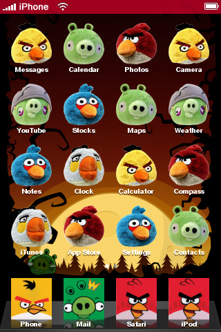 Angry Birds iPhone Theme