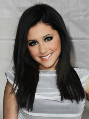 Ariana with black hair