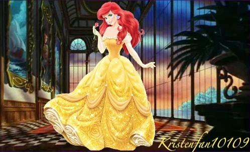 Ariel in Belle's redesign