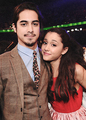 Avan and Ariana Backstage at 2013 KCA's  - avan-jogia-and-ariana-grande photo