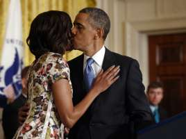 Barack And Michelle Sharing A Tender Moment