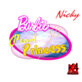 Barbie in The Pearl Princess 3D Logo with a trident - barbie-movies fan art
