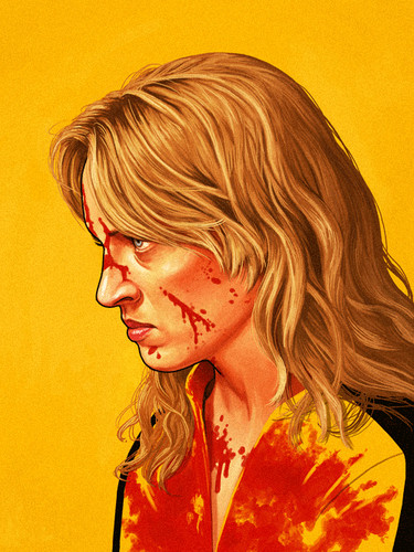 Quentin Tarantino 바탕화면 possibly with a portrait titled Beatrix Kiddo