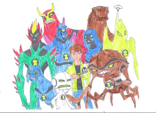 Ben 10: Ultimate Alien achtergrond containing anime called Ben 10 door Teddy