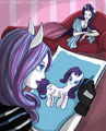 Catrine draw Rarity - monster-high photo