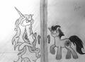 Celestia and my OC, Nocturnal Mirage - my-little-pony-friendship-is-magic fan art
