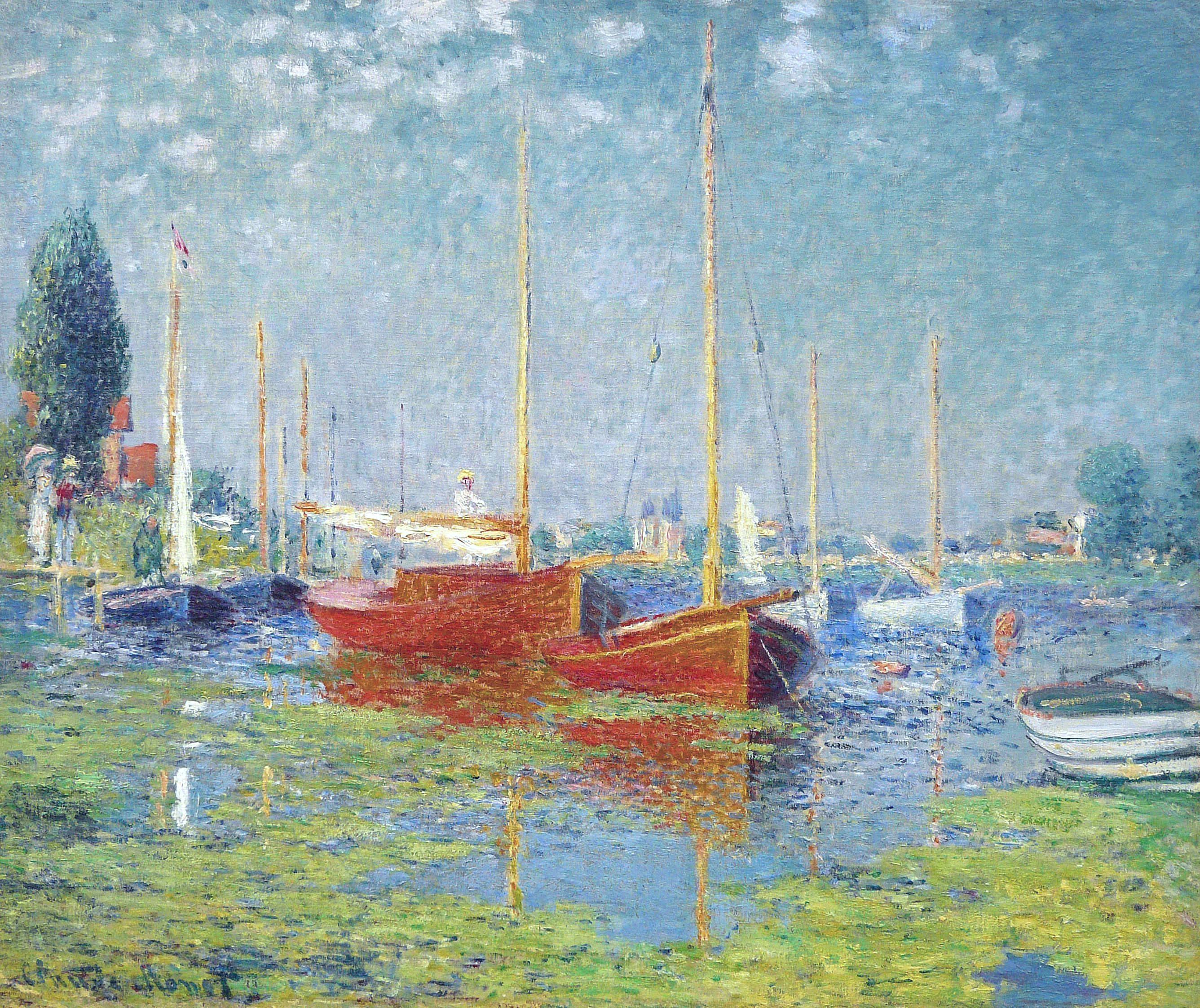 Claude Monet - Argenteuil. Yachts, 1875