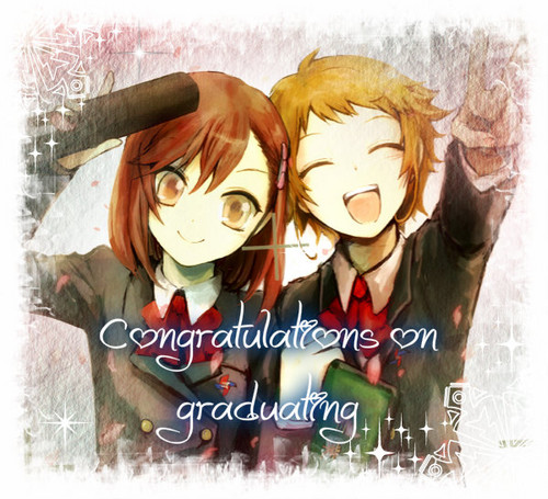 Congratulations on gradutating