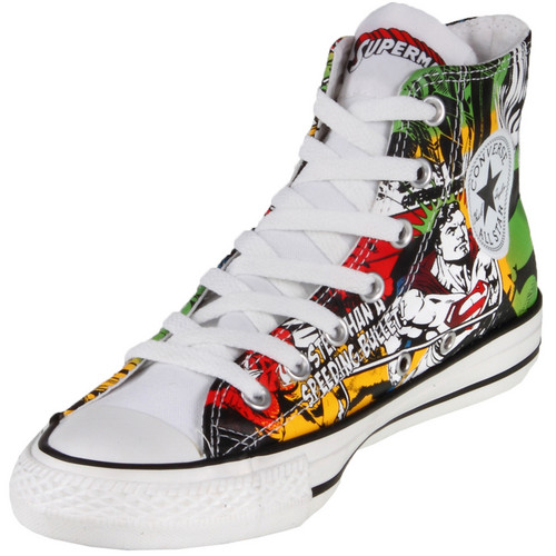 Converse Chuck Taylor 120822 DC Comics Canvas Print Superman Hi سب, سب سے اوپر