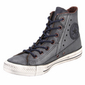 Converse Chuck Taylor 132415C Leather Motorcycle Jacket Dark Navy Hi Top