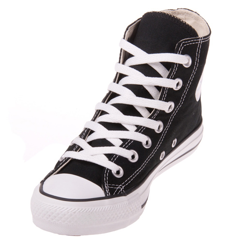 converse shoes black high tops