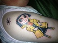 Coraline Doll Tattoo
