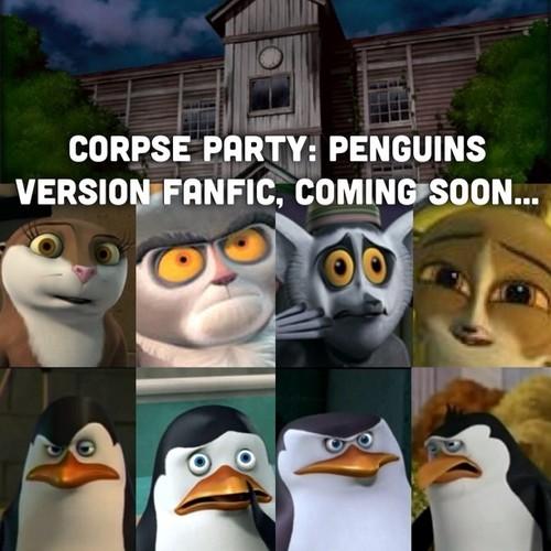 Corpse party/penguins fanfic coverart: