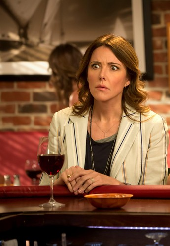 Christa Miller wallpaper possibly containing a brasserie, a dinner table, and a bistro titled Cougar town