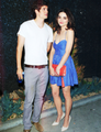 Crystal Reed and Daniel Sharman leaving Bootsy Bellows in West Hollywood - May 10th - teen-wolf photo