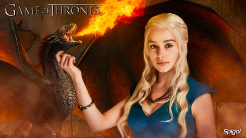 Dany & Dragon Wallpaper