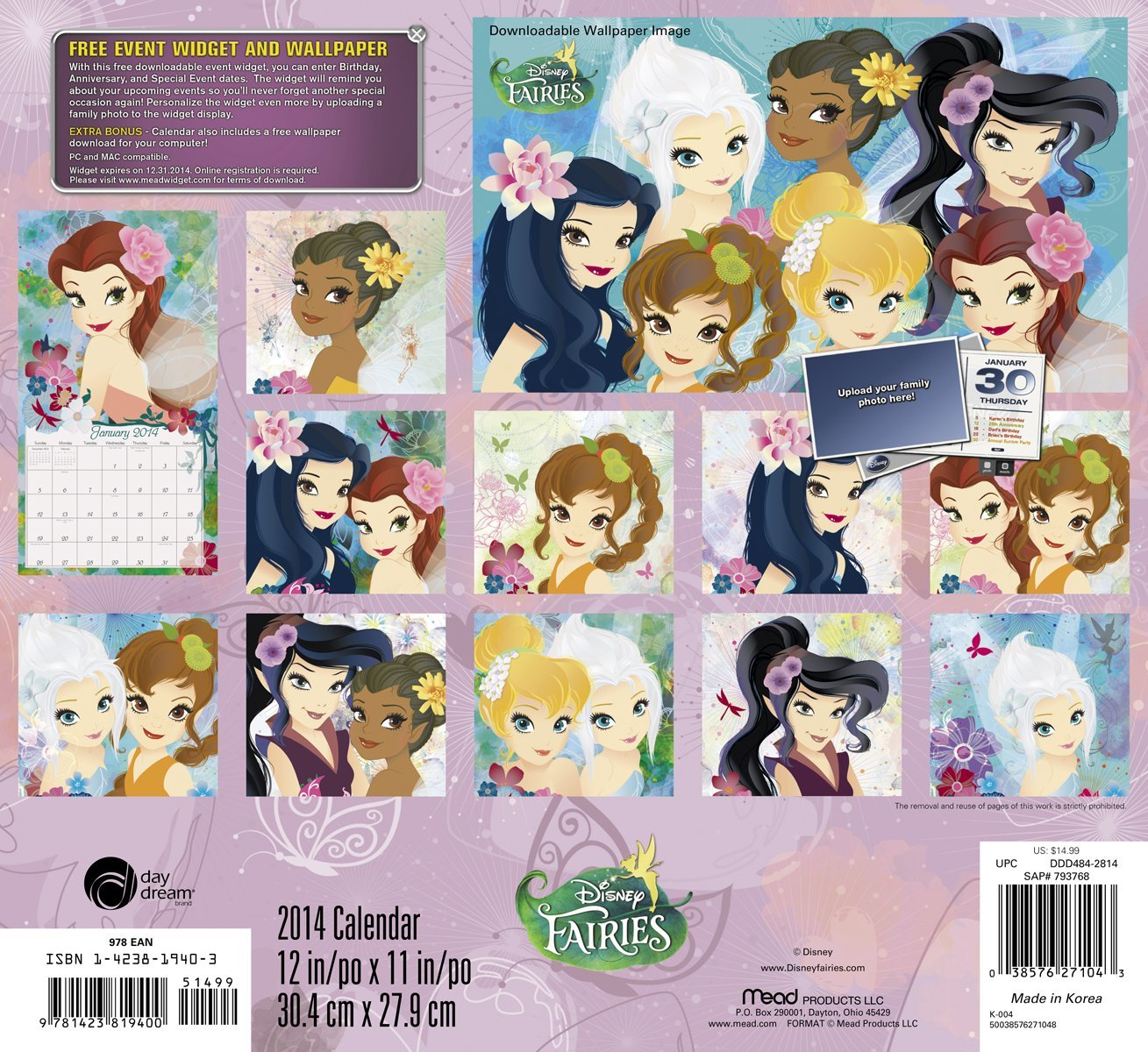 Disney Fairies 2014 Calendar