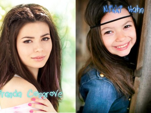 Miranda Cosgrove wolpeyper containing a portrait titled Don't they look alike?