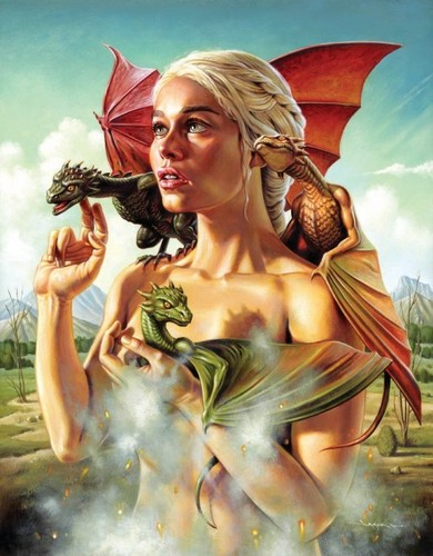 Dany with dragons