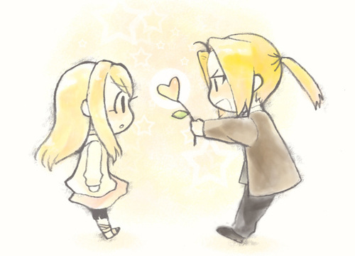 full metal alchemist couples wolpeyper titled Ed & Winry