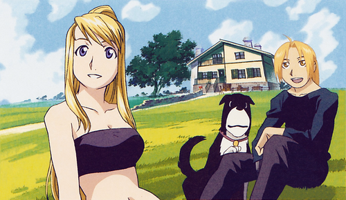 full metal alchemist couples wolpeyper containing anime titled Ed & Winry