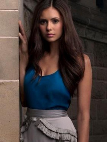 The Vampire Diaries TV Show wallpaper possibly with a chemise, a cocktail dress, and attractiveness entitled Elena Gilbert