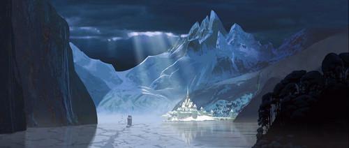 "Exclusive concept art from Walt disney animación Studios' upcoming movie ""Frozen."""