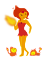 Feral Flame Girl - adventure-time-with-finn-and-jake fan art