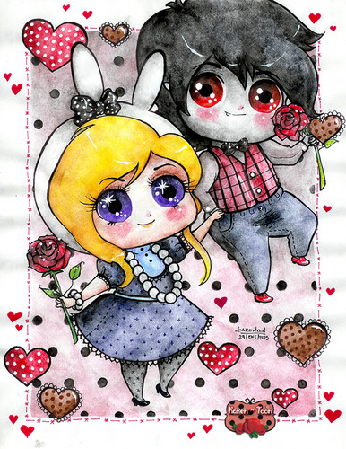 Fionna and Marshall Lee -Happy Valentines dia