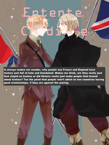 Hetalia wallpaper entitled France & England Confession