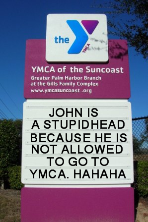 Funny Sign YMCA