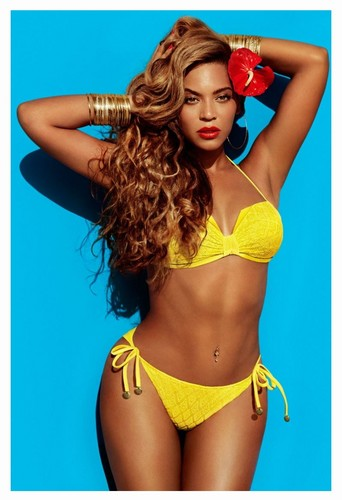 Beyonce wallpaper with a bikini entitled H&M