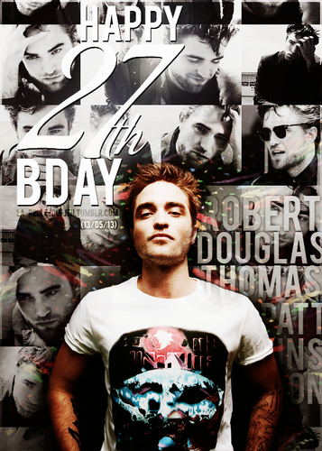 Robert Pattinson wallpaper with anime entitled Happy 27th Birthday Rob!