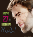 Happy 27th Birthday Rob! - robert-pattinson fan art