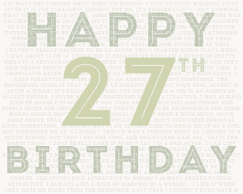 Robert Pattinson wallpaper entitled Happy 27th Birthday Rob!