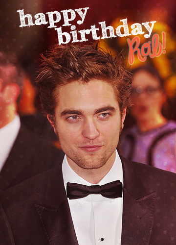 Robert Pattinson wallpaper probably containing a business suit entitled Happy B-Day Robert!!!<3