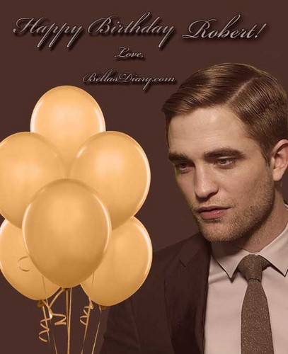 Robert Pattinson fond d'écran with a meteorological balloon entitled Happy B-Day Robert!!!<3