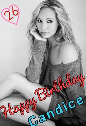 Happy Birthday Candice (13 may)