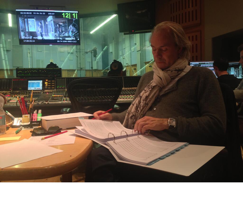 Harald Zwart TwitPic (after recording the score)